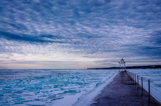 Photo free Two Harbors Breakwater Lighthouse, Minnesota, Lake superior