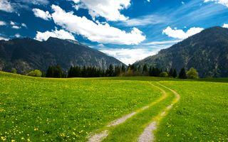 Заставки Альпы, баварские, облака