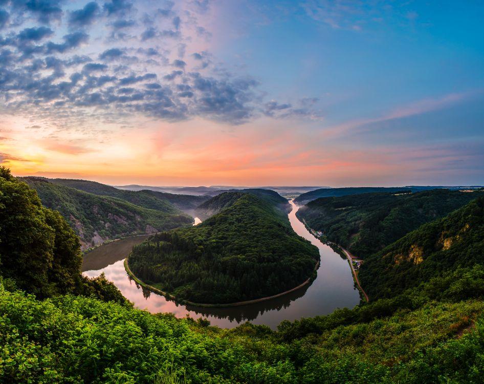 Изгиб реки Саар - Mettlach · бесплатное фото