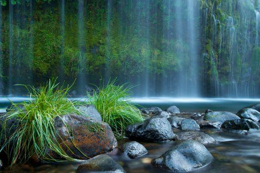 Photo free Mossbrae Falls, California, waterfall