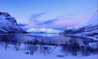 Фото бесплатно Грётфьорд, Норвегия, зима