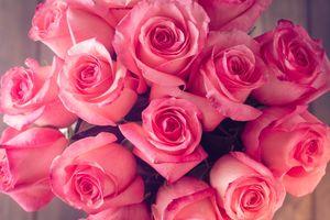 Фото бесплатно лепестки, букет, розовый