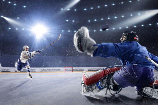 Фото бесплатно хоккей, лед, свет