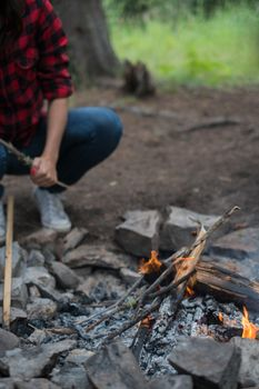 Photo free fire, soil, camping