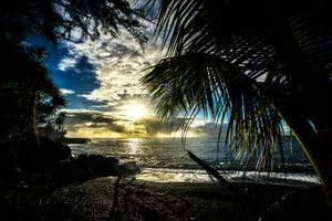 Бесплатные фото Kehena Beach,Puna Coast,Big Island,Hawaii,закат,пляж,берег