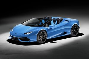 Lamborghini Huracan blue · free photo