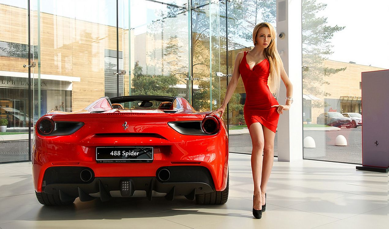 Фото бесплатно модель, фотосессия, Ferrari, девушки