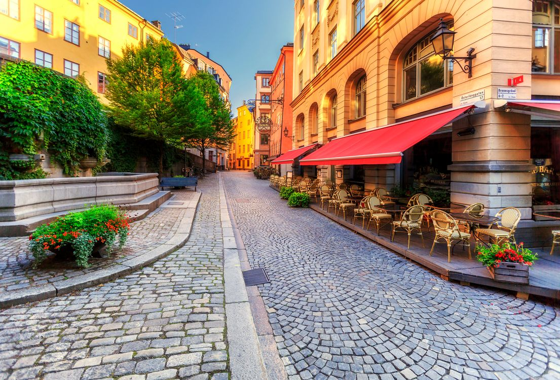 Photos for free Gamla Stan, Stockholm, house - to the desktop