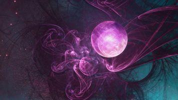 Фото бесплатно космос, фрактал, звезды