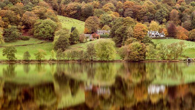 Заставки Grasmere,Cumbria,Lake District,Autumn