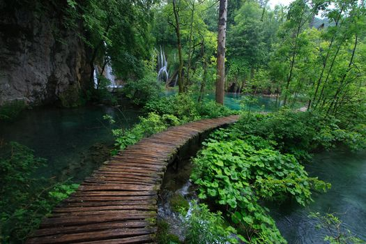 Photo free Croatia, Plitvice Lakes National Park, waterfall