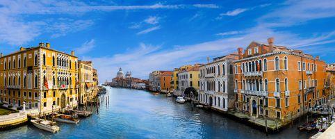 Бесплатные фото Венеция,Италия,Гранд-канал в Венеции,город,панорама
