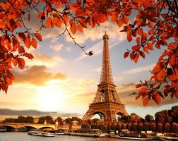 Заставки осень, France, город