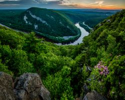 Photo free The Delaware river, new Jersey, the Appalachian mountains