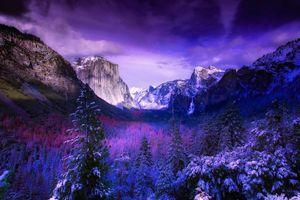 Бесплатные фото йосемити,национальный парк,калифорния,горы,снег,зима,леса