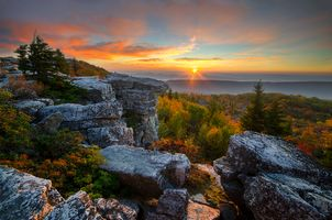 Photo free West Virginia, Sunrise, Appalachian mountains