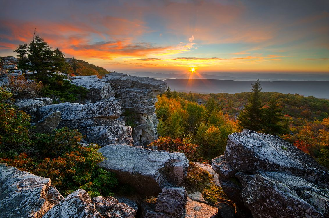 Free photo West Virginia, Sunrise, Appalachian mountains - to desktop