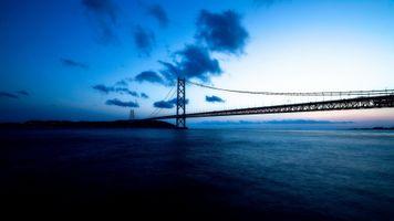 Photo free bridge, bridges, clouds
