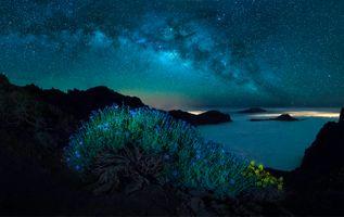 Заставки Канарские острова, небо, Млечный путь