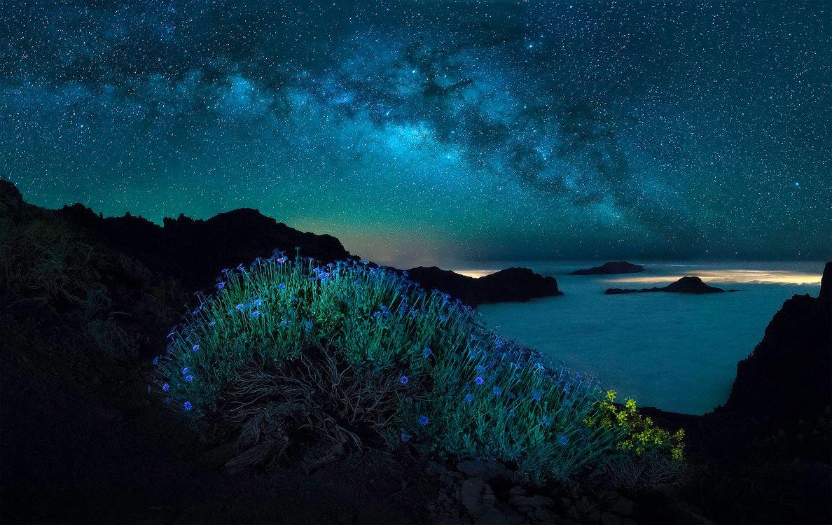 Фото бесплатно Канарские острова, небо, Млечный путь - на рабочий стол