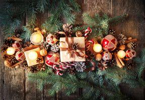 Фото бесплатно украшения, элементы, рождественские украшения