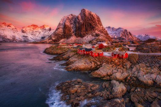 Wallpaper lofoten islands, reine, reine high quality