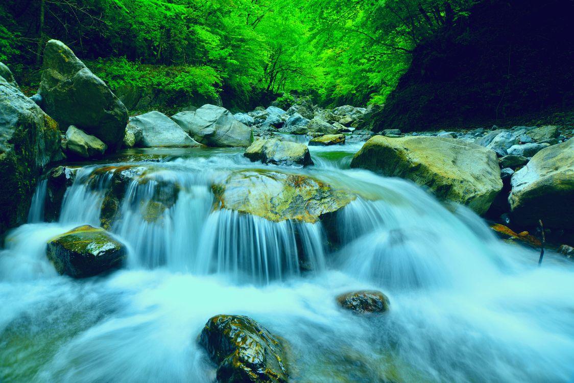 Фото бесплатно Япония, камни, водопад - на рабочий стол