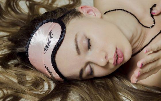 Фото бесплатно milena d, блондинка, закрытые глаза