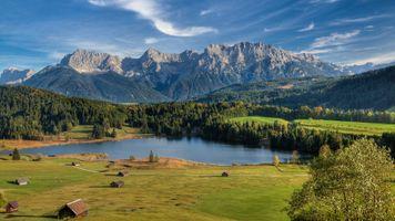 Фото бесплатно пейзаж, озеро Герольдзее, Бавария