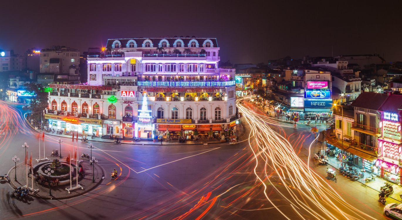 Фото бесплатно Вьетнам, Ханой, ночные города - на рабочий стол