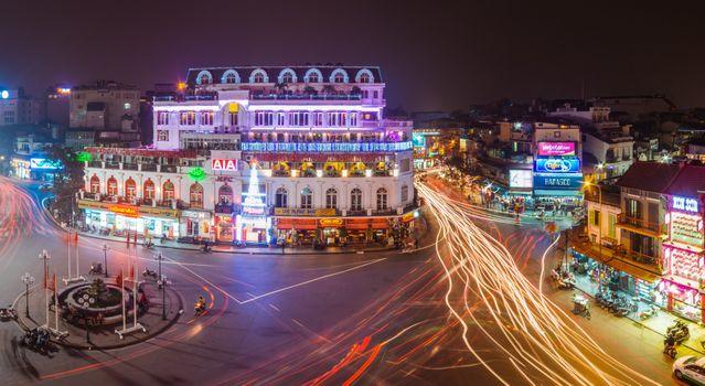 Фото бесплатно Вьетнам, Ханой, ночные города