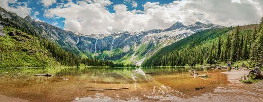 Фото бесплатно Avalanche Lake, Glacier National Park, Канада