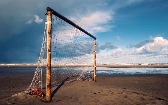 Фото бесплатно пляж, ворота, небо
