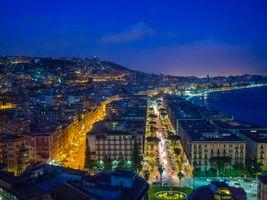 Заставки Napoli,Неаполь,Италия,панорама,ночные города