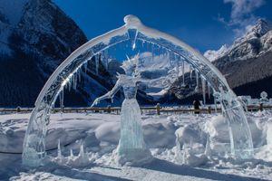 Фото бесплатно Фигура из льда, лед, зима