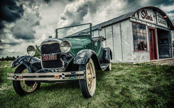 Фото бесплатно Форд, режим HDR, ретро