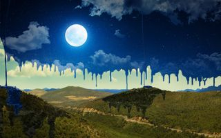 Photo free moon, paint, sky