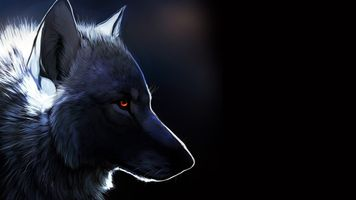 Фото бесплатно волк, рисунок, нарисован