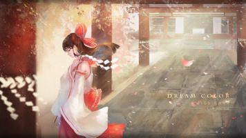 Фото бесплатно Hakurei Reimu, вид профиля, Touhou
