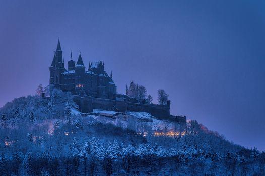 Photo free an old castle, Burg Hohenzollern, landscape