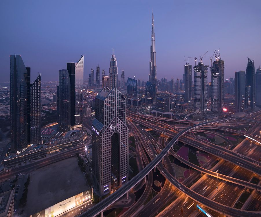 Фото бесплатно ночные города, ОАЭ, ночь - на рабочий стол