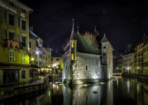 Фото бесплатно Annecy, Франция, ночь