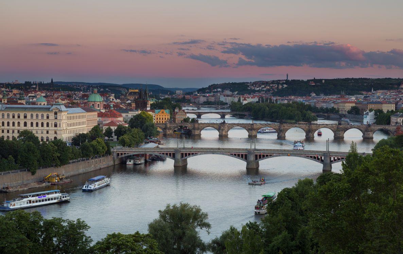 Фото бесплатно Прага, Чехия, Prague, Czech Republic Карлов мост, Река Влтава, город, дома, мосты, город