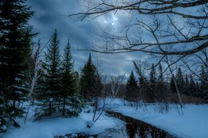 Заставки небо, снег, пейзаж
