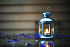 Photo free lantern, candle, blue