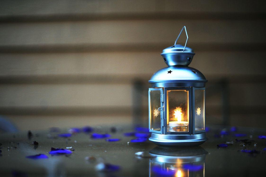 Фото бесплатно фонарь, свеча, синий - на рабочий стол