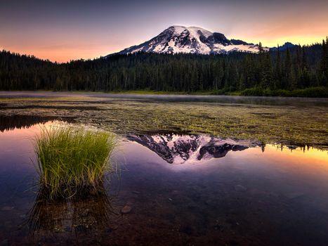 Фото бесплатно пейзаж, Reflection Lake, горы