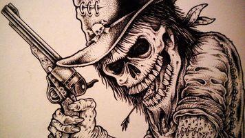 Фото бесплатно рисунок, злодей, ковбой