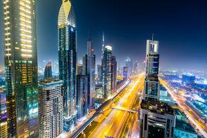 Фото бесплатно Ночной город, Дубай ОАЭ ночь, ночные города