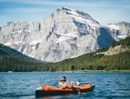 Фото бесплатно лес, гора, лодка